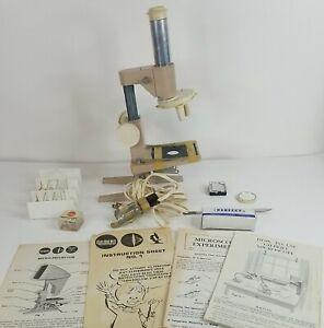Vintage MICROSCOPE AC Gilbert Co Microscope Rare Antique STEEL Microscope