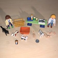 Playmobil 5970 City Life Veterinarian Animal Clinic Set Lot Accessories Dog Pets