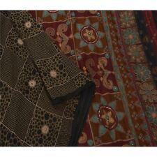 Sanskriti Antique Vintage Saree 100% Pure Silk Hand Beaded Fabric Premium Sari