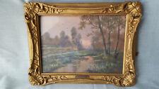 Peinture sous verre signé N Kremmer,cadre 26cm x 34cm