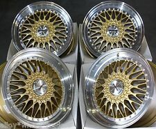 "17"" GOLD VINTAGE ALLOY WHEELS FITS HONDA ACCORD CIVIC CR-V CRZ HR-V 5X114 MODELS"