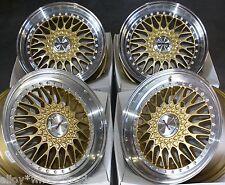 """17"""" Ruedas de aleación de oro Vintage Se Ajusta Honda Accord Cívico CR-V ZRC HR-V 5X114 Modelos"""