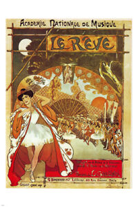 vintage french opera poster steinlen 24X36 the dream extravagent first rate