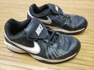 NIKE AIR Diamond Trainer Baseball Black/White Sneakers size 10 # 333785-012