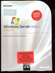 Open Box - P73-04754 Microsoft Windows Server 2008 R2 Standard 5 CAL