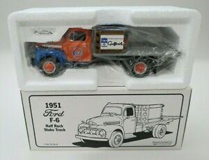First Gear Gulf Oil 1951 Ford F-6 Half Rack Stake Truck 19-1085