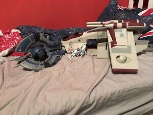 2009 Hasbro Star Wars Republic Gunship & Droid Trifighter W Extra Figures