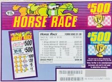 """Pull Tab Ticket """"Horse Race"""" 1820ct - Free Shipping"""