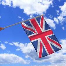 Union Jack Hand Flag on a 2ft wooden pole