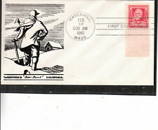 """RARE FDC #865 FAMOUS AMERICAN JOHN GREENLEAF WHITTIERS""""SNOWBOUND""""CACHET BEAUTY"""
