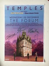 TEMPLES - SUN RESTRUCTURED TOUR HAND SIGNED POSTER AUTOGRAPHED