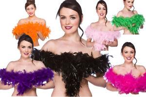 Feather Boas Ladies Fancy Dress Accessory Flapper Rocky Forror Feather Boa