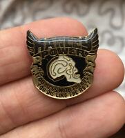Harley Davidson enamel pin NOS vintage 80s Power Motorcycle hat lapel bag skull