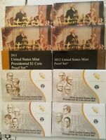 Complete Presidential dollar 2007-2016 S Proof set 39 coins with Boxes and COA's