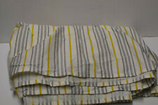Lauren/Ralph Lauren Gray & Yellow Striped Bed Skirt Sz Queen