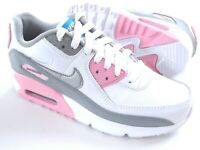 Nike Air Max 90 Leather Girls Womens Shoes Trainers Uk Size 3 - 5  CD6864 004