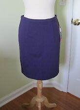 DALIA COLLECTION MODERN FIT skirt 6 back zip purple NEW NWT pencil skirt
