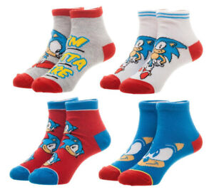 Sega Sonic The Hedgehog Youth Ankle Socks Child Video Game 4 PAIRS