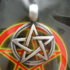 Pewter Pentacle Necklace - Pentagram Pendant - Wicca Pagan Witch Gothic Goth