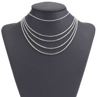 Luxury Elegant Crystal Choker Necklace Earring Chain For Women Jewelry Sets