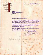 Document du 26/05/1923 WINKEL ZONEN La Casa Rosada - Curaçao Antilles Caraïbes