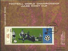 North Yemen block133 (complete issue) used 1970 Football-WM, Me