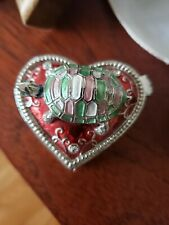 Heart Shape Turtle Trinket Box~Aprox 2.5 Inches.