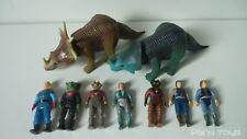 Lot Dino Riders Styracosaurus, Monoclonius et 7 personnages / Tyco 80's