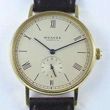 """NOMOS """"Ludwig"""" 18ct Gelbgold Herren Armbanduhr von ca. 2003 ganz selten in Gold"""