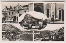 Gibraltar postcard - Multiview showing 5 different scenes - RP - P/U