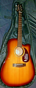 Mitchell T311CE-BST Solid Spruce Top Auditorium Acoustic-Electric Guitar