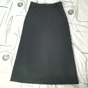 Vintage Women's Black French Connection Wool Cashmere A-Line Maxi Skirt Size 12