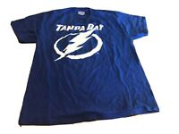 Vintage Tampa Bay Lightning NHL Mens Shirt Shirt Size Large TShirt Blue Hanes