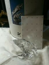 SWAROVSKI CRYSTAL AUSTRIA 1992 CARE FOR ME THE WHALES ANNUAL MINT IN BOX