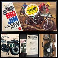 MIB 1974 Honda Elsinore CR250 70s motorcycle toy Mattel Big Jim Wolf Pack HOWLER