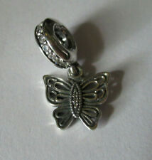 """AUTHENTIC PANDORA 925 SILVER LOVE TAKES FLIGHT BUTTERFLY""""  DANGLE CHARM 791255CZ"""