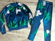 Adidas Originals Floral Engraved Tracksuit Jacket And Leggings