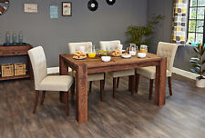 Inca solid walnut home dining room furniture six seater dining table