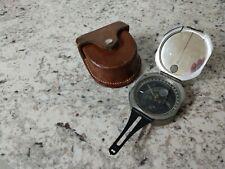 DW Brunton Pocket Transit Compass w/ Leather Case