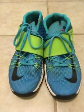 Nike Zoom Train Toranada Men's Sz 10M Blue Green Distressed Strap Train