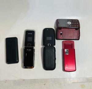 LG & Nokia Keyocera Cell Phone 5 Lot Us Cellular AT& T Verizon