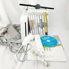 Nintendo Wii Console Bundle Lot 10 Games RVL-001 (USA)