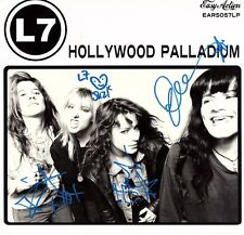 "L7 Signed LP VINYL ""HOLLYWOOD PALLADIUM"" JSA # P88500"