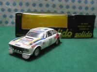 Vintage - PEUGEOT 504 coupè V6 Bandama Costa d'Avorio - 1/43 Solido