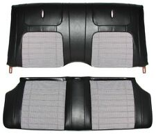 1968 Camaro Convertible Deluxe Houndstooth Interior Rear Seat Covers  Black