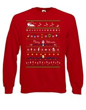 Christmas Halloween Jack Skellington The Night Jumper Sweater Pullover Top XM37