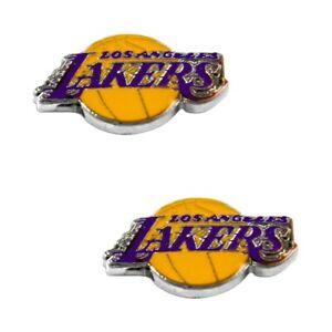 Los Angeles Lakers NBA Team Logo Post Stud Earrings NEW