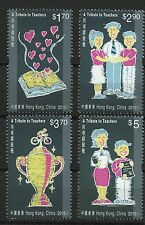 Tribute to Teachers set of 4 mnh stamps 2016 Hong Kong