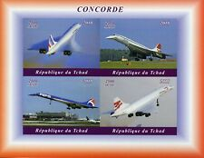 Chad 2018 MNH Concorde 4v IMPF M/S Airplanes Aviation Stamps