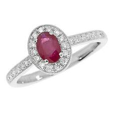 Markenlose ovale Ringe mit Rubin Edelsteinen echten
